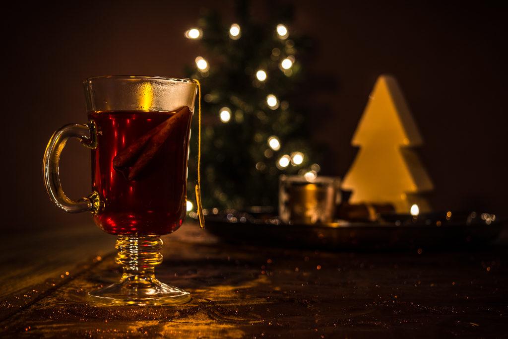 Weihnachtliches Teeglas